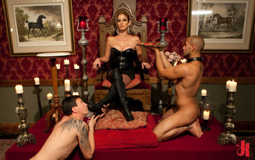 Dominant male slave female